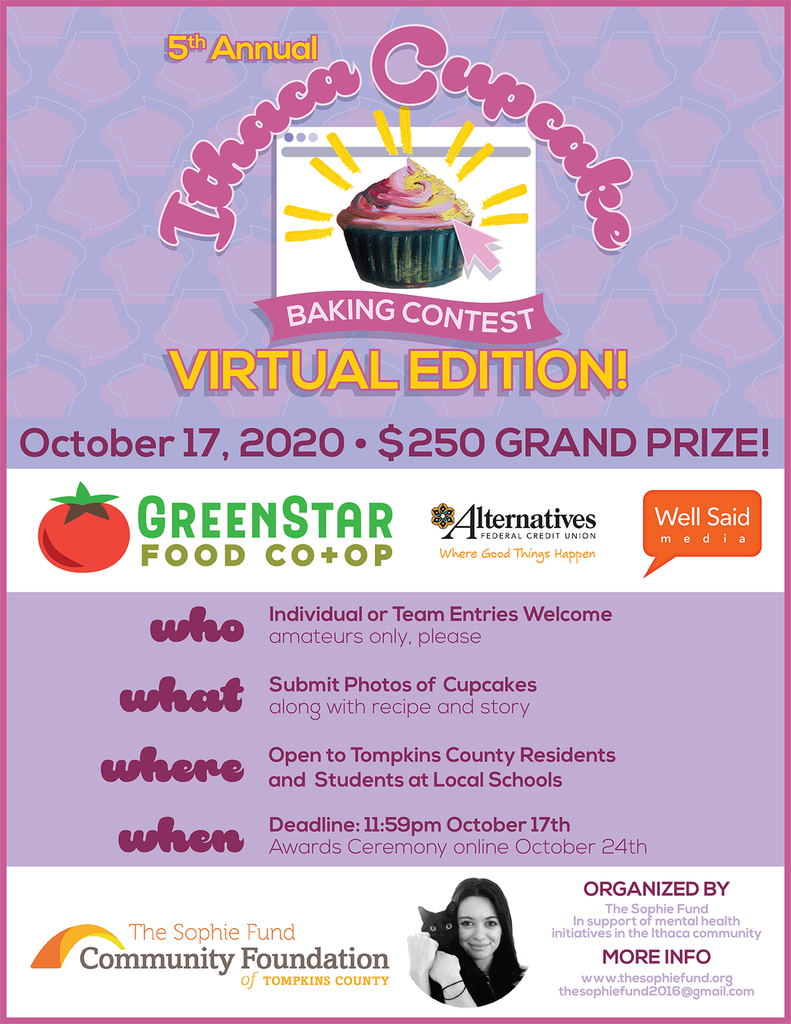 Ithaca Sophie Fund Cupcake Contest